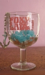 Foxy Lady Vintage 70s Beer Glass Goblet