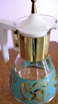Aqua & Gold Vintage 50s Coffee Urn with Stand 02.jpg
