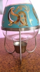 Aqua & Gold Vintage 50s Coffee Urn with Stand 04.jpg
