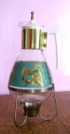 Aqua & Gold Vintage 50s Coffee Urn with Stand 05.jpg