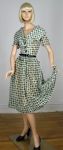 Nice Vintage 50s New York Designer Geometric Print Dress