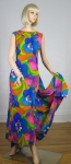 Brilliant Tropical Vintage 70s Hawaiian Dress