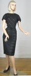 Chic Vintage Black 50s Peek-a-Boo Dress