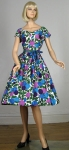 Blooming Vintage 50s Vivid Floral Dress