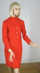 Vintage Geoffrey Beene 60s Structured Red Dress