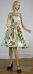 Adorable Vintage 50s Novelty Print Sun Dress