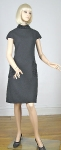Grown-Up Mod Vintage 60s Black Detailed Dress