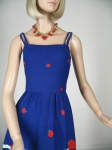 Vintage 70s Apple Print Malia Sun Dress 03.jpg