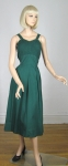 Hunter Green Vintage 50s Sun Dress and Bolero
