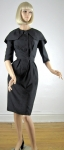 Vintage 50s Maurice Rentner Dress w/Dramatic Collar