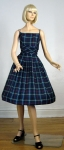 Perky Plaid Vintage 50s Sun Dress with Bolero
