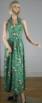 Green Vintage 40s/50s Style Garden Party Halter Dress