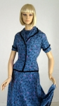 Cute Dog Vintage 50s Poodle Novelty Print Dress & Jacket 3.jpg