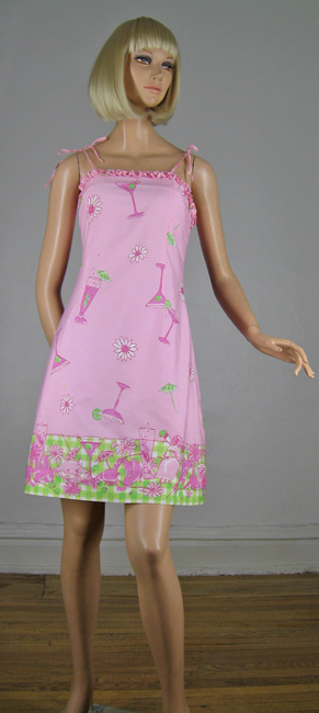 Sunset Pink Lilly Pulitzer Mixed Drinks Sun Dress
