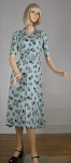Darling Vintage 40s Apple Print Rayon Dress
