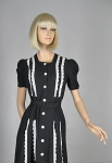 Sweet Vintage 40s Black and White Eyelet Dress 02.jpg