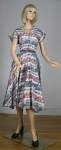 Mythical Fantasy Print Vintage 50s Full Skirt Dress