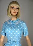Baby Blue Vintage 60s Polka Dot Dress