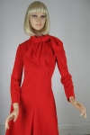 Red Vintage 70s Geoffrey Beene Jersey Dress with Scarf