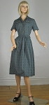 Brass Button Vintage 50s/60s Gray Full Skirt Dress 02.jpg