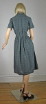Brass Button Vintage 50s/60s Gray Full Skirt Dress 04.jpg