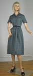 Brass Button Vintage 50s/60s Gray Full Skirt Dress 06.jpg