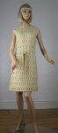 Creamy Vintage 60s Wool Knit Mini Dress