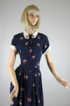 Darling Daisy Print Vintage 50s Fun Shirt Dress
