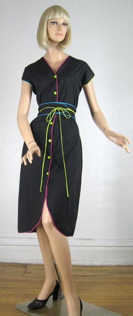 Grown-Up New Wave Vintage 70s/80s Bill Tice Dress