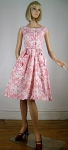 Pink Vintage 50s Big Pocket Detailed Dress