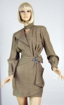 Sculptural Vintage 80s Thierry Mugler Dress