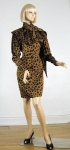 Silk Charmeuse Vintage 80s Ungaro Parallele Dress