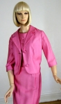 Smashing Pink Vintage 60s Dress and Jacket