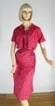 Fab Hot Pink Vintage 50s Dress and Bolero