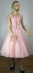 Shelf Bust Vintage 50s Full Skirt Pink Party Dress 02.jpg