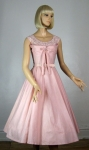Shelf Bust Vintage 50s Full Skirt Pink Party Dress 05.jpg