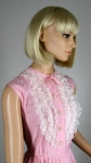 Sweet Vintage 50s Lace Ruffled Pink Dress