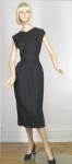 Slim Chic Vintage 50s Linen Wiggle Dress