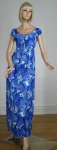 Splashy Sirena Vintage 60s Resort Maxi Dress