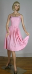 Flirty Vintage 50s Pink Gingham Sun Dress