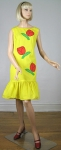 Sunny Yellow Vintage 60s Applique Shift Dress