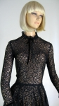Beautiful Vintage 40s Cascading Lace Dress