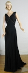 High Drama Vintage 30s Fringed Evening Gown