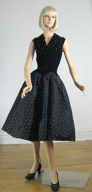 Polka Dot Stars Vintage 50s Party Dress