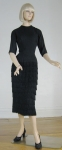 Glamazon Vintage 50s Fringed Black Dress