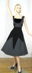 Dramatic Smart Miss Vintage 50s Velvet Diamond Party Dress 01.jpg