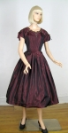 Black Cherry Vintage 50s Tafetta Party Dress