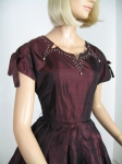 Black Cherry Vintage 50s Tafetta Party Dress 02.jpg