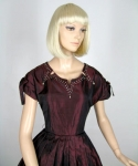 Black Cherry Vintage 50s Tafetta Party Dress 03.jpg