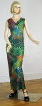 Electrifying Vintage 70s Bubble Print Maxi Dress